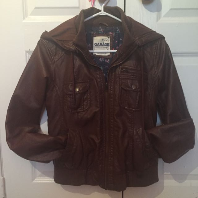 Brown Leather Jacket - Size Medium