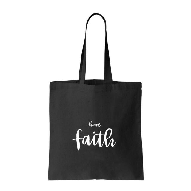 Brush Lettering Tote Bag (Have Faith) - Sold