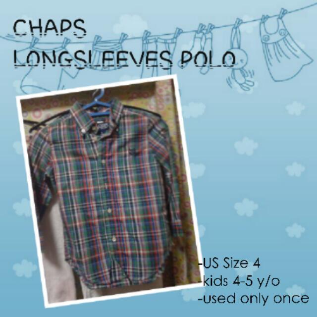 CHAPS Longsleeves Polo