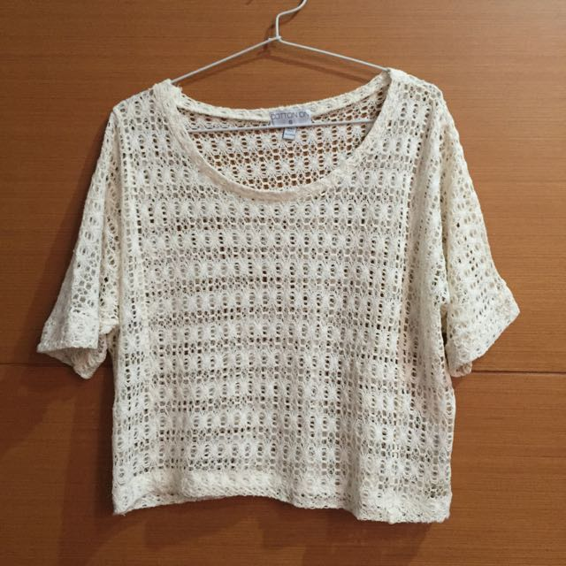 Cotton On Oversized Crop Top