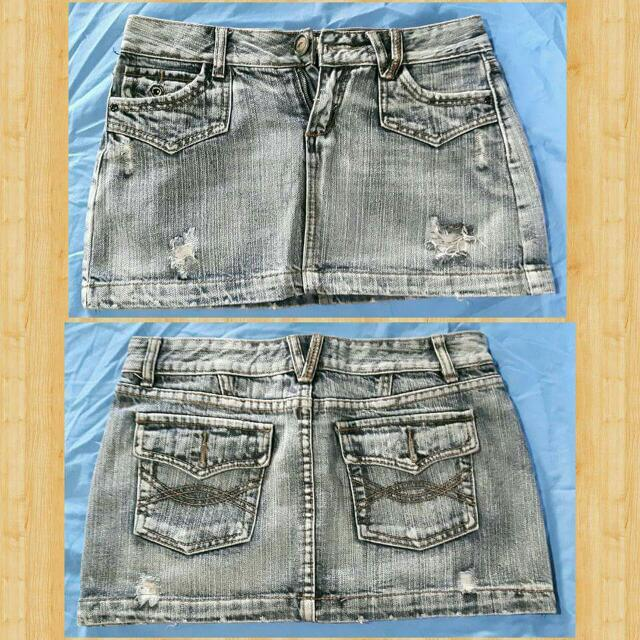 DENIM SKIRT (tattered)