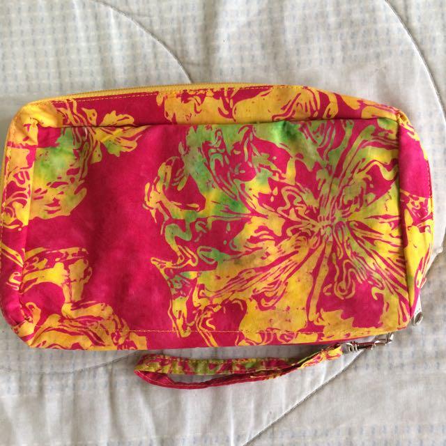 Dompet Batik Besar Pink