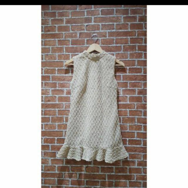 Dress Creme Gold ( Bahan Super Bagus)