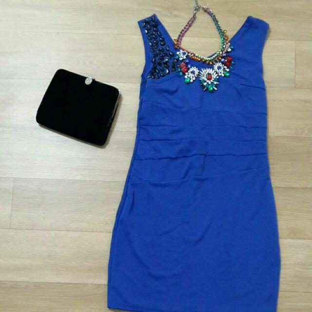 dress  Good Quality , bisa melar Size S - M kecil LD 80 cm P 81 cm