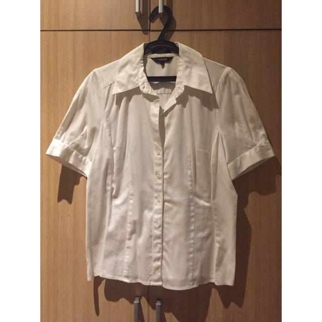 Essenxa White Shortsleeve Polo