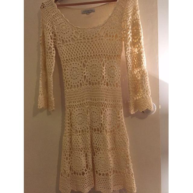 Forever New Cream Crochet Dress - Size 6