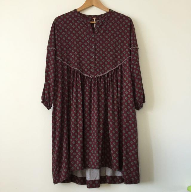 Free People Boho Long Sleeve Dress