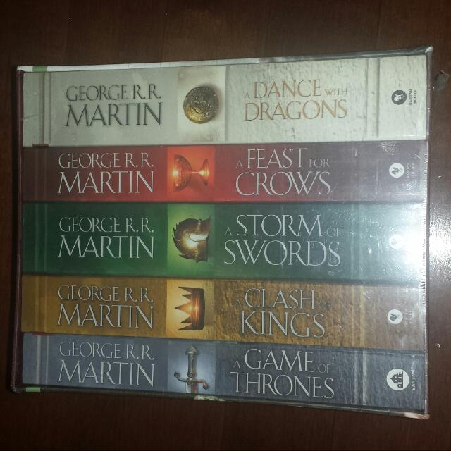 Game Of Thrones Paperback Boxset. Brandnew In Box.