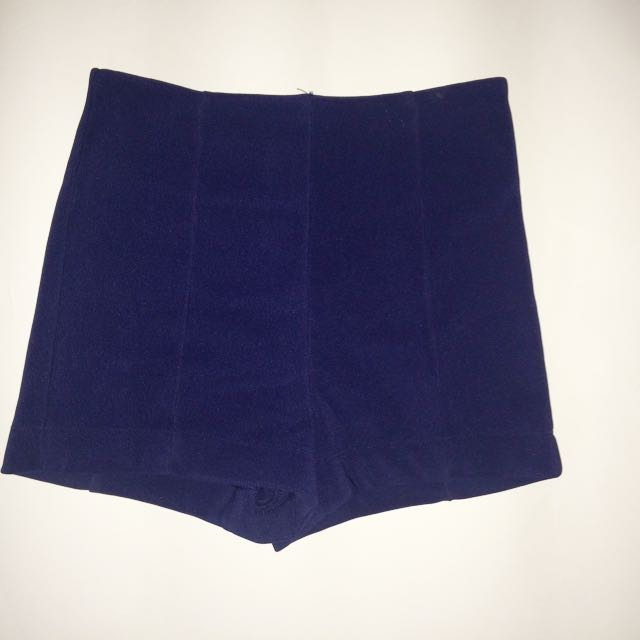High Waisted Navy Shorts