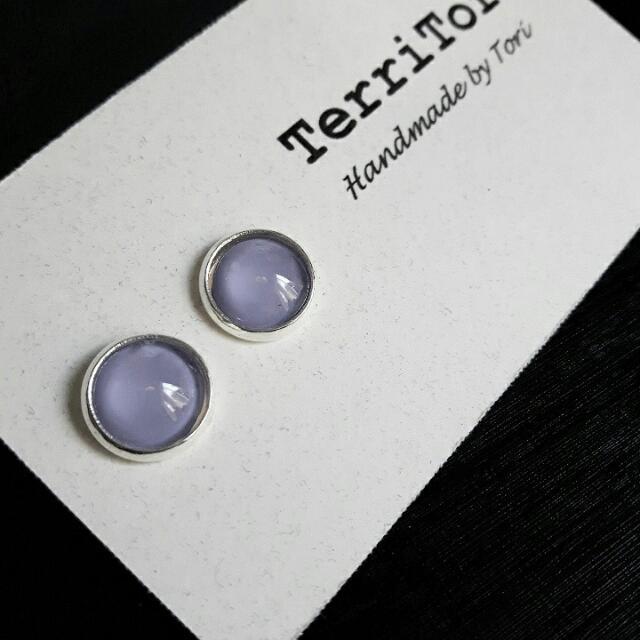 Lavender Pastel Color Stud Earring.