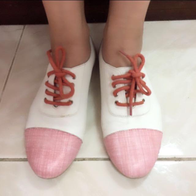 Le Bunny 拼接牛津鞋