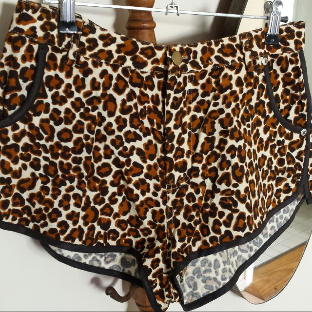 Mad Love Leopard Print Shorts