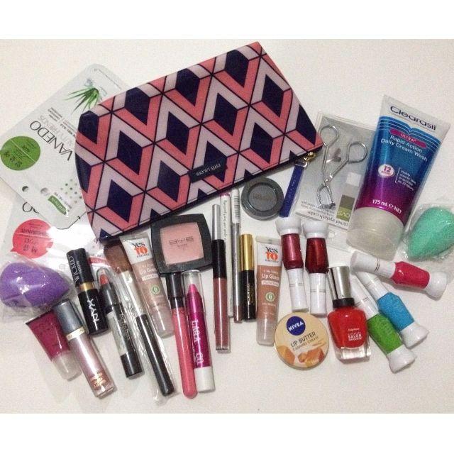 Makeup Bundle with Estée Lauder Makeup Bag : Elizabeth Arden, Maybelline, Revlon