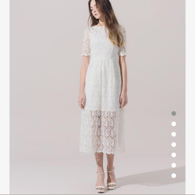 Meier.Q 白色蕾絲洋裝