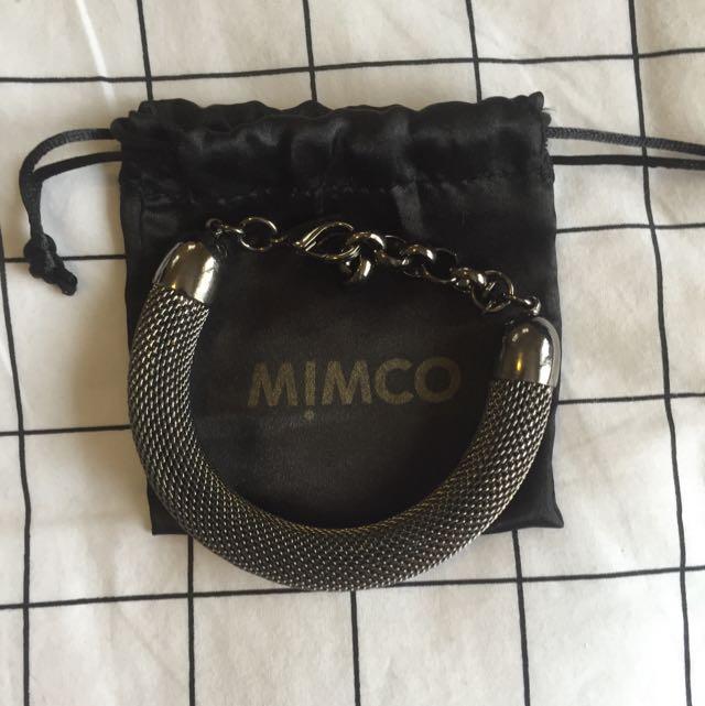 Mimco Gunmetal Bracelet
