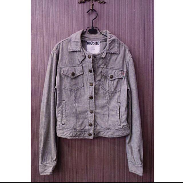 MOSCHINO 短格紋外套