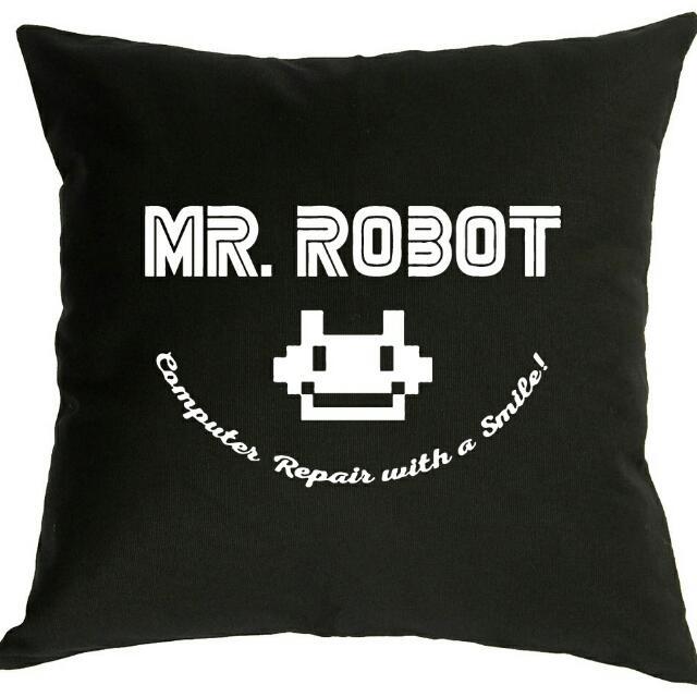 Mr. Robot Computer Repair Throw Pillow