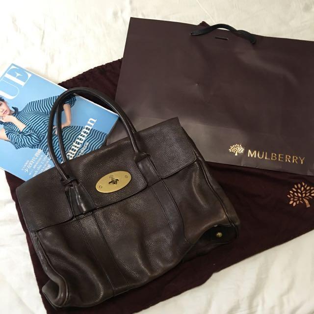 (已售)Mulberry 經典款 Bayswater 包 巧克力色