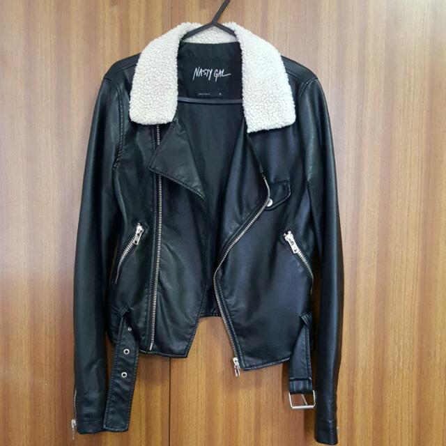 NASTY GAL Black Leather Jacket