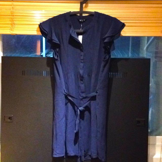 NET 連身洋裝 深藍色 全新