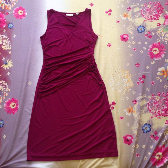 New York & Company Maroon Dress