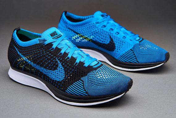 23118bd167ce Nike flyknit racer photo blue