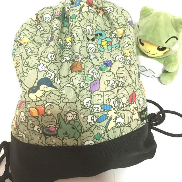 POKEMON Drawstring Bag GREEN