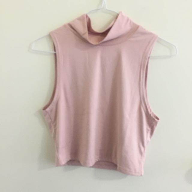 Pastel pink crop - size M