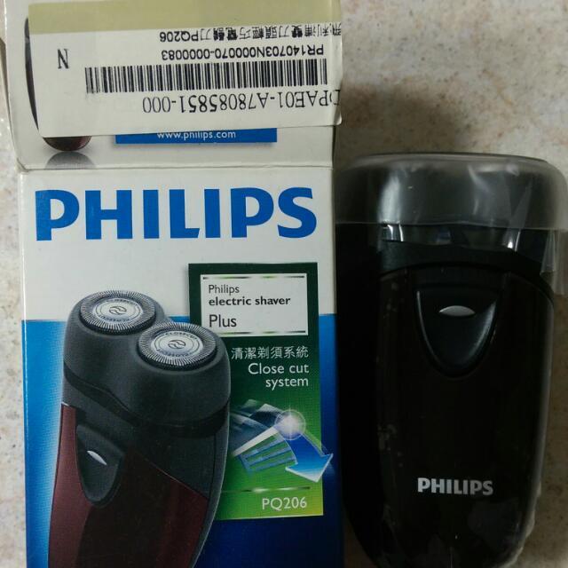 【PHILIPS】雙頭輕巧電鬍刀/刮鬍刀PQ206