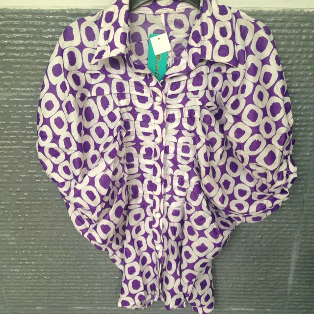 Purple Baloon Blouse