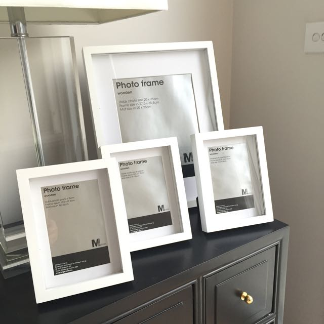 Set Of 4 Wooden Shadow Box Picture Frames