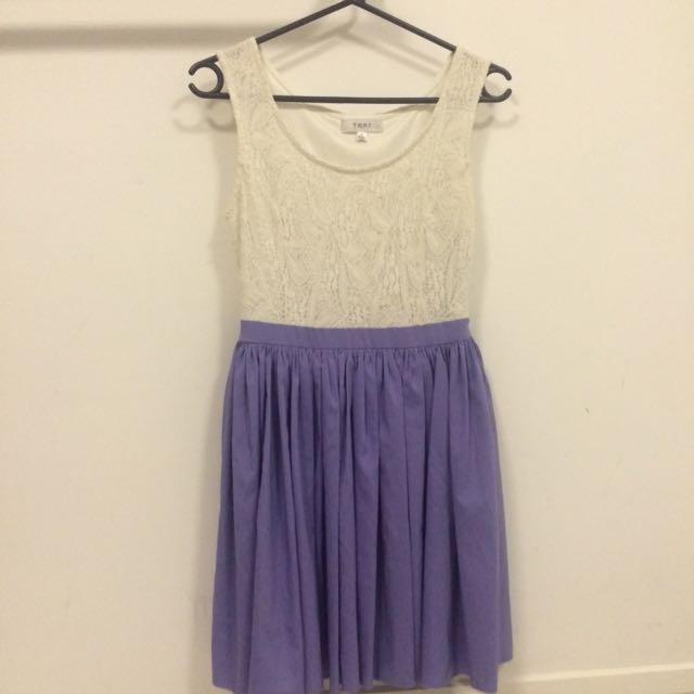 Size 8 Lace Blue Dress