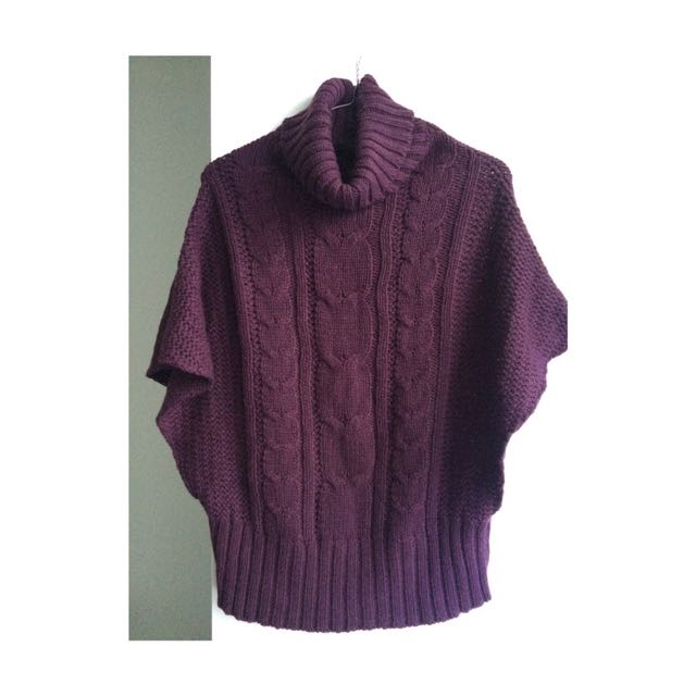 Sleeveless Purple Jumper