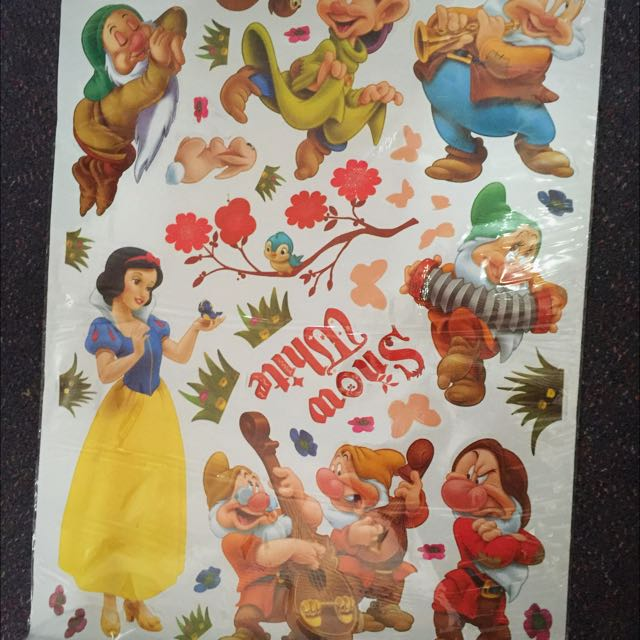 Snow White & The Seven Dwarfs Removable Walk Sticker Decals