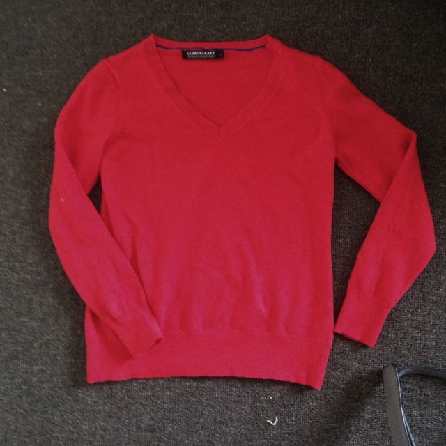 Sz6 Sportscraft red Merino Sweater