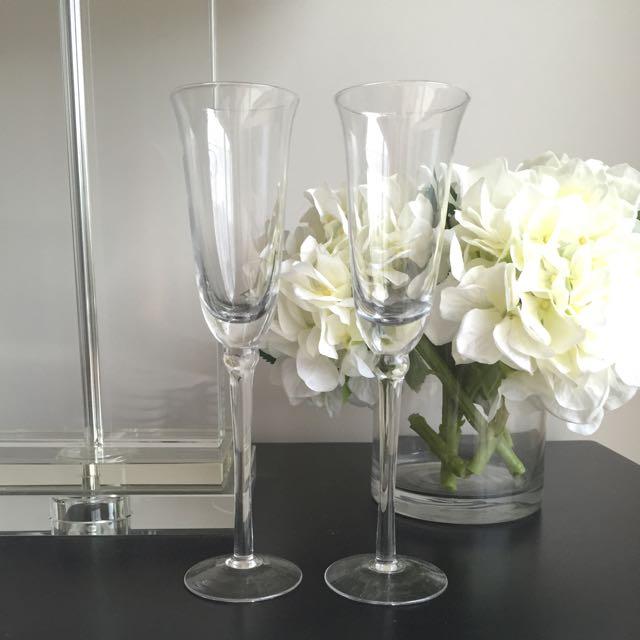 Toasting Flutes - Wedding Star Champagne Flutes Brand New x2