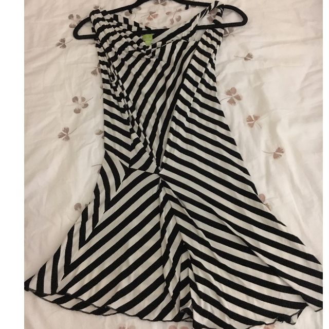 Tristan Classic Black and White Dress