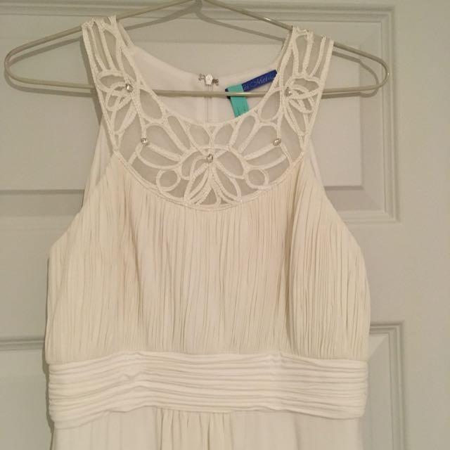 White Long Formal Dress
