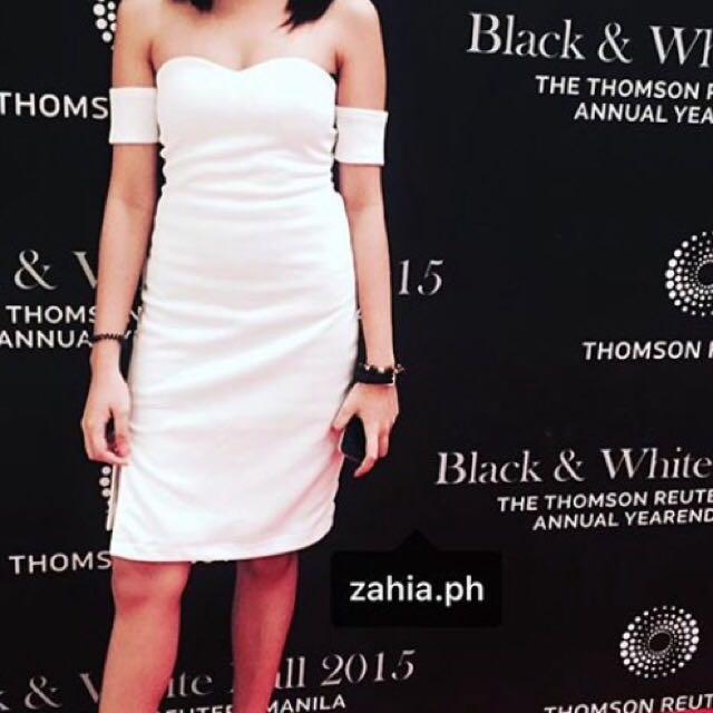 White Off Shoulder Dress