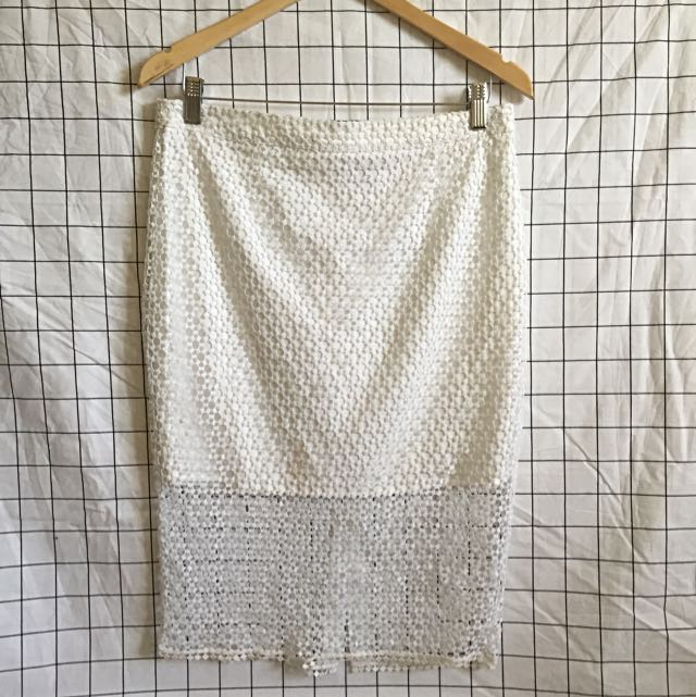 Witchery White Lace Skirt