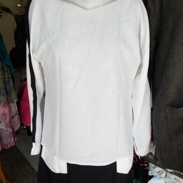 Woman Tunik White-black Fit M