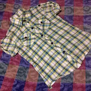 Checkered Casual Blouse