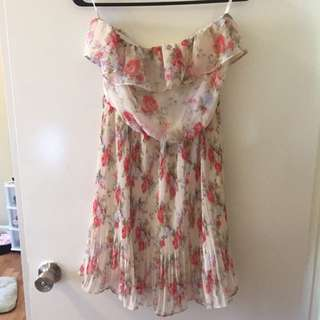 Papaya Floral Dress