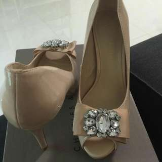 Brand New Not Worn Charles And Keith Nude Heels