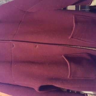 Fall/winter Maroon Med Jacket