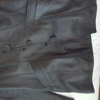 Black Leather Jacket Medium Size