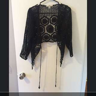 Black Crotchet Cardigan