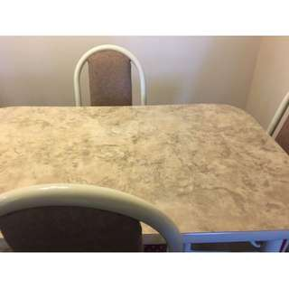 Beautiful Marble Dining Table Set