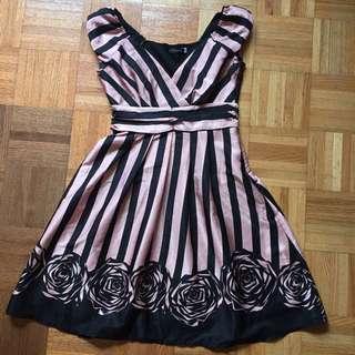 Black & Pink Stripped Dress
