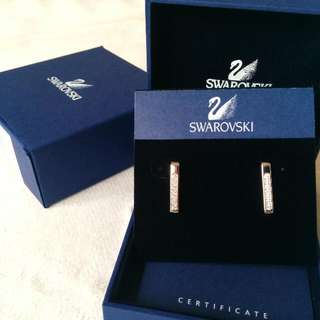 Swarovski Earrings With Original Box